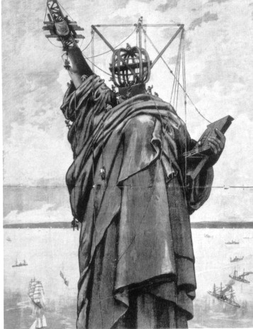 Statue of Liberty under construction