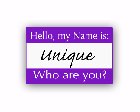 Be unique Name tag