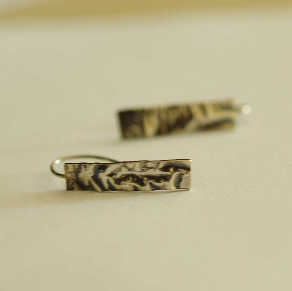 Wrinkle of Time Reticulated Earrings
