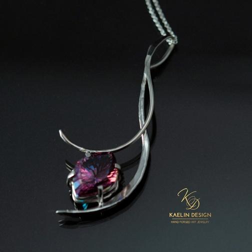 Phoenix Ember Custom Pendant  by Kaelin Design