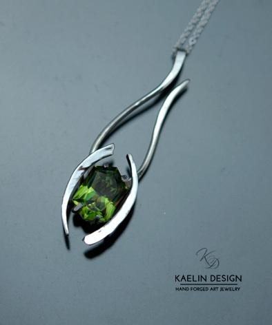 Celadon Green Topaz pendant by  Kaelin Design