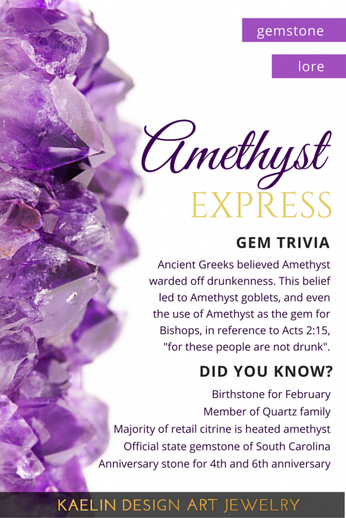 All about Amethyst Gem Lore by Kaelin Design