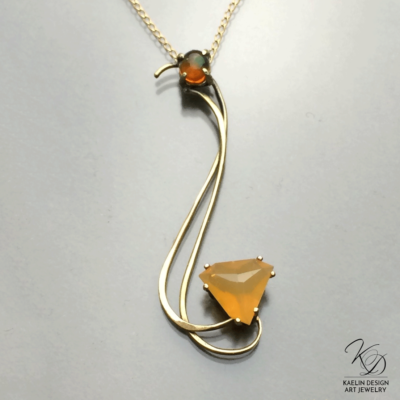 Keeper of the Flame Opal Pendant
