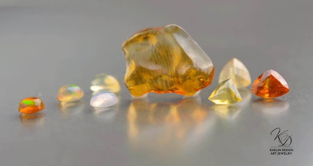 Fire Opals from Kaelin Design