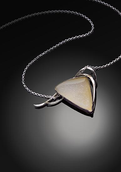 Windswept Druzy Handmade Pendant by Kaelin Design