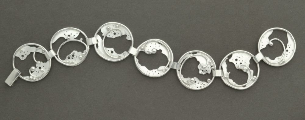 Ocean's Froth Bracelet hand forged in Argentium Sterling Silver by Kaelin Design