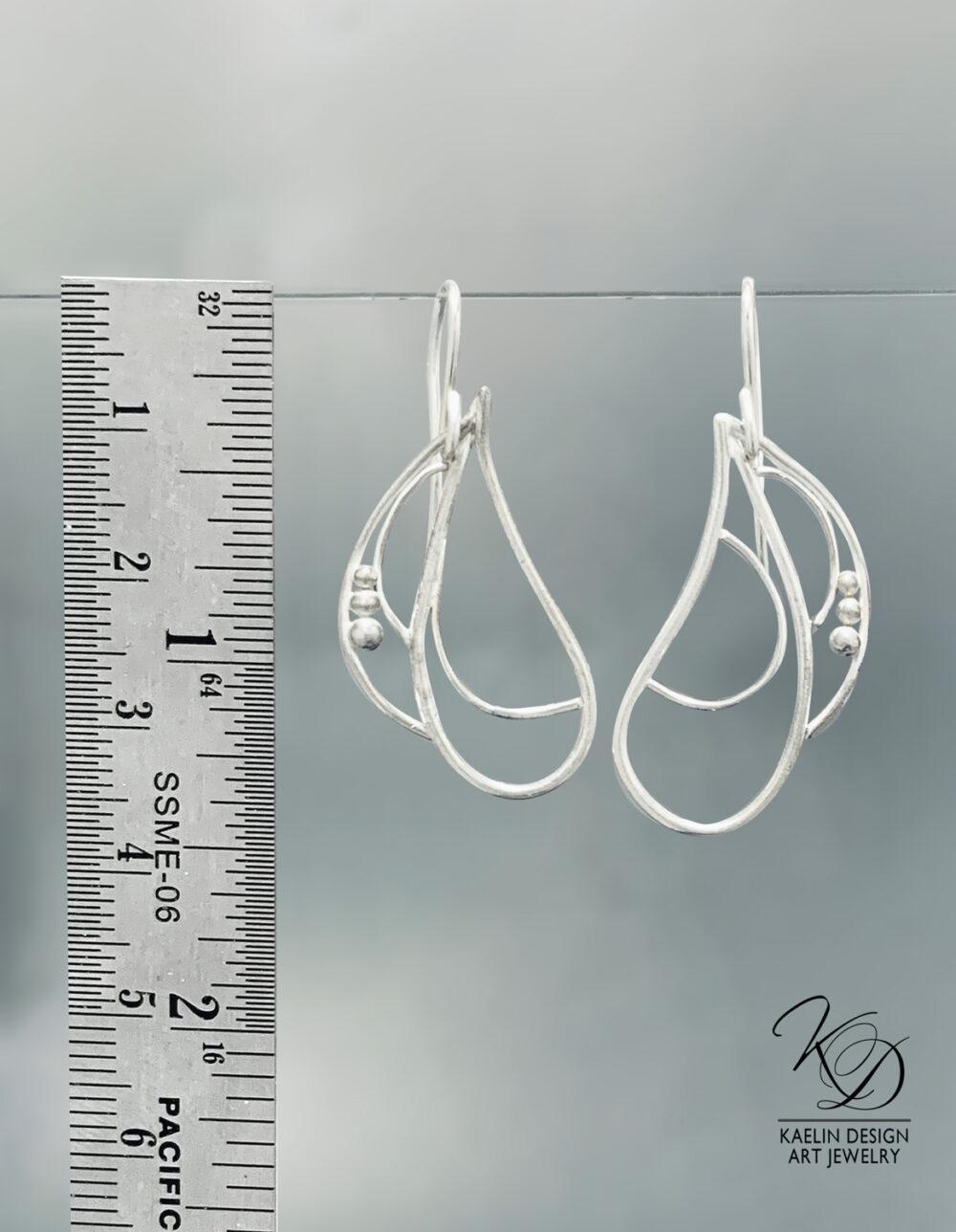 Open Water Sterling Silver Earrings by Kaelin Design