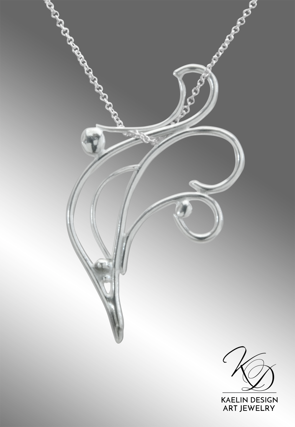 Ocean Currents Fine Art Jewelry Pendant