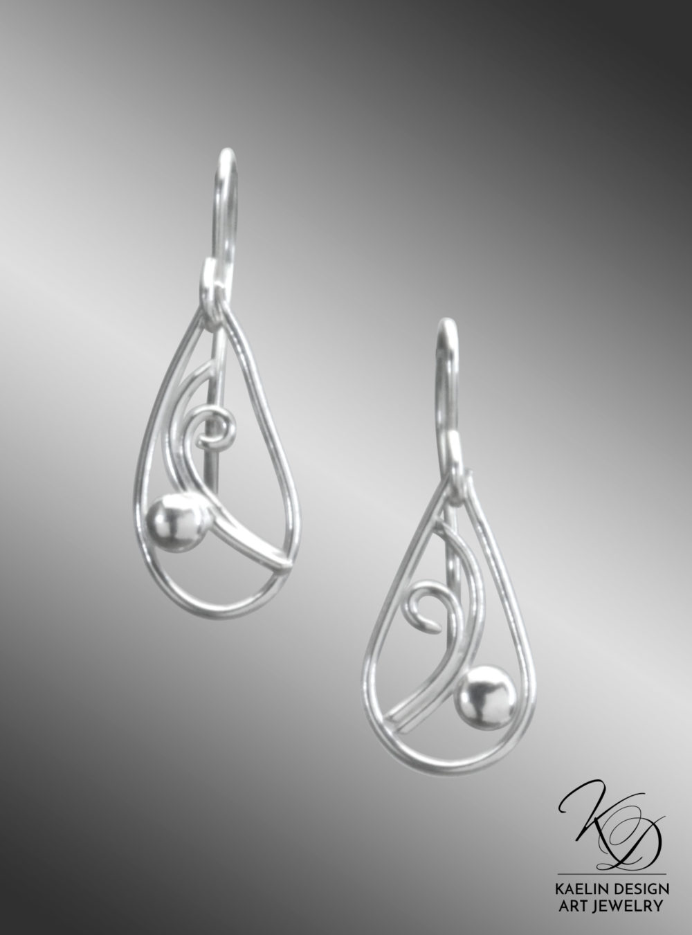 Laguna Hand Forged Sterling Silver Earrings by Kaelin Design Fine Art Jewelry