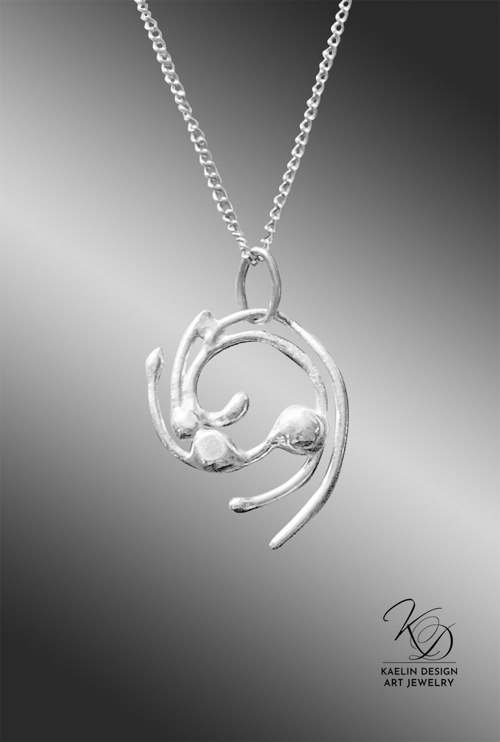 Yamuna Sterling Silver Art Jewelry Pendant by Kaelin Design
