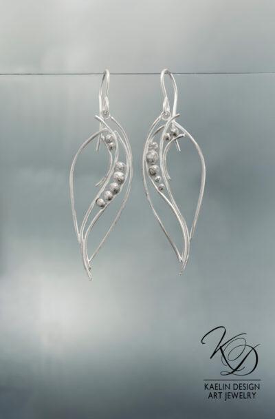 Ocean Foam Sterling Silver Earrings by Kaelin Design