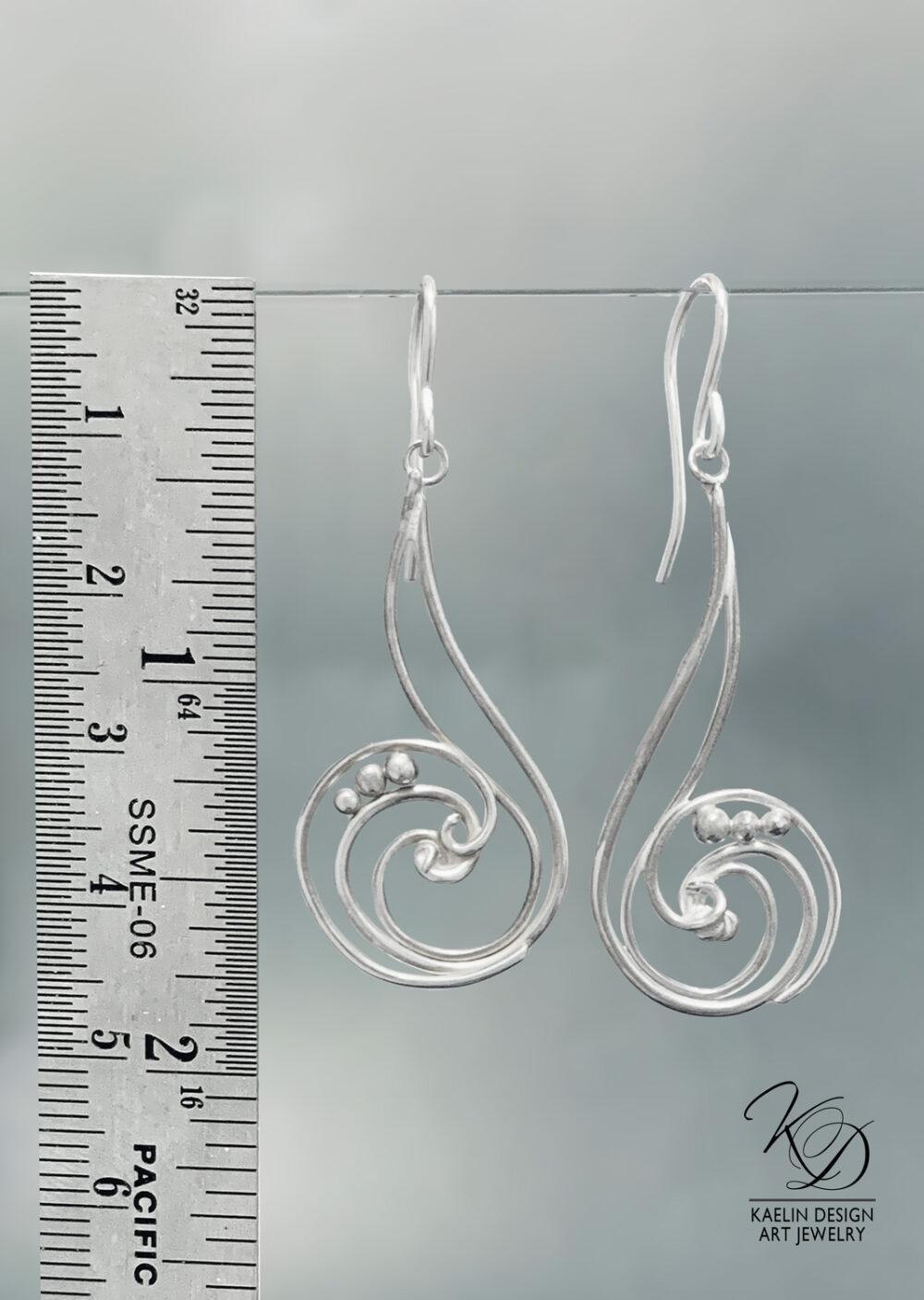 Whirlpool Sterling Silver Ocean Earrings by Kaelin Design Fine Art Jewelry